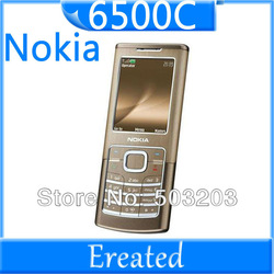 original unlocked Nokia 6500 3G internal 1GB memory 2MP camera 6500c Nokia cellphones support russian keyboard russian menu(China (Mainland))