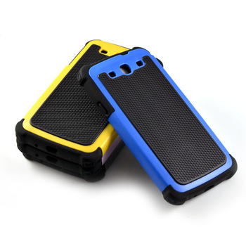 Soft Silicone+Plastic 3 in 1 Hybird Cover For Samsung Galaxy S3 Case For i9300 Phone Protective Shell Back Cover FREE SHIPPING
