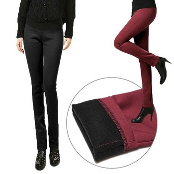 Free shipping 2014 autumn winter thick plus velvet elastic leggings women's fashion big size trousers pencil pants jeans E5-E6