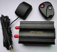 hot TK103B Car GPS tracker+Remote Control GPS103 Car Alarm Quad-band SD card slot PC&website GPS tracking system Free Shipping