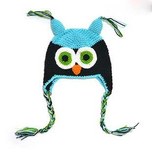 MS2 Cartoon Designs 100%Cotton Handmade Children Crochet Hats Various Animal Styles Baby Owl Beanie hat Kids cap Free shipping