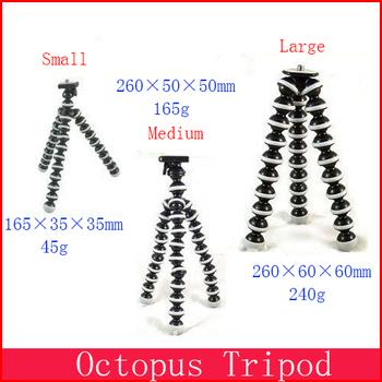 Wholesale  MEDIUM Mini Gorillapod Type Flexible Ball octopus Leg Mini Digital Camera Tripod Flexible Tripod