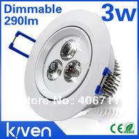 High Bright 3w Down Light  Dimmable Ceiling Light 110V 220V Cool White Warm White Recessed Downlight Spotlight Home Lighting