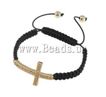 Free Shipping Wholesale Hot Selling Vintage Sideway Cross Fashion Jewelry Shamballa Bracelets Promotion wholesale Cheap Bracelet