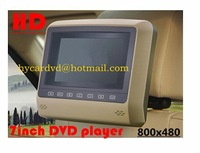 NEW!car dvd for  Headrest external hang monitor without pillow  7 inch HD screen with DVD/USB/SD/FM/IR/GAME