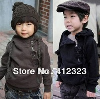 free shipping baby children boys girls hoody coat Sweater with fleece kids Fashion Cute Zipper Sweaters hoodies outwear
