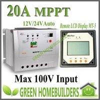 Tracer  2210 , 12V/24V auto work ,20A MPPT solar controller regultor  With MT-5 Remote Meter