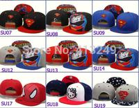 New arrive men and women Cartoon snapback Caps baseball caps Superhero hat,can mix order,20pcs/lot,Free shipping