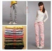 Women's Lady Cargo Cargo WORK PANT MULTI POCKET,Black/Yellow/Pink/White/Khaki/Green/Red/Blue/Gray Pants.
