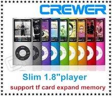 """delgado cuarto 1.8"""" lcd mp3/fm radio video mp4 jugador para 2gb 4gb 8gb 16gb tarjeta sd tf con envío gratis(China (Mainland))"""