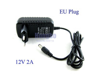 AC 100-240V to DC 12V 2A Power Adapter Supply Charger For LED Strips Light EU Plug Free Shipping