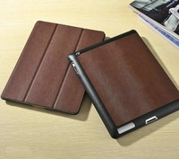 GSOURCE designer smart case for ipad 3/4  Stand Leather case for ipad with high quality microfeber inside cover for ipad 2