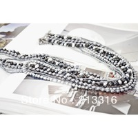 Free shipping Sample order Fashion pearl  Necklace swarovki (Min.order 10$ mix oredr)