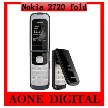 Original Refurbished Unlocked Phone Nokia 2720 Fold Dual Band 1.3MP Camera Bluetooth FM Radio Vedio JAVA