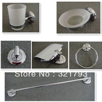 Free Shipping!6pcs stainless steel bathroom accessories set,chrome finished