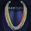 K&M---New arrival Multi chain design Top Grade Style Necklace NK-00869. Free Shipping