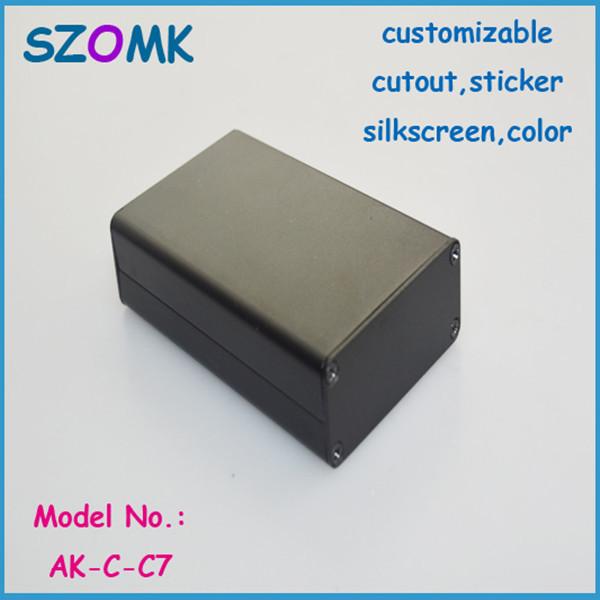 10 pcs a lot aluminum extrusion enclosure for electronics 20x50x80mm Aluminum box , electronics aluminum case housing(China (Mainland))
