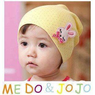 10PCS/lot wholesale baby hat rabbit infant hat Cotton baby cap Beanie kids hats children caps