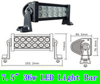 truck lights led 36w ,7.5inch ,2400lm LED light bar for Off road,led work light ,led working light led