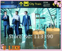 free shipment 18 inch Beige  business luggage travel luggage for man U 6001