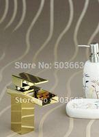 Polished Golden Bathroom & Kitchen Basin Sink Mixer Faucet Tap CM0284
