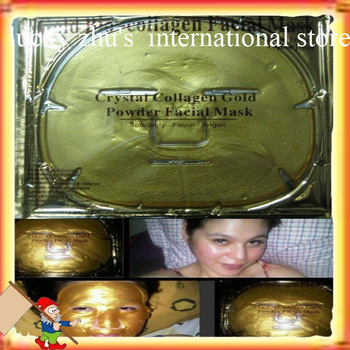 Free shipping/2012 Brand New Gold Crystal Collagen Facial Mask Face Masks Wholesale 10 Pcs / Lot