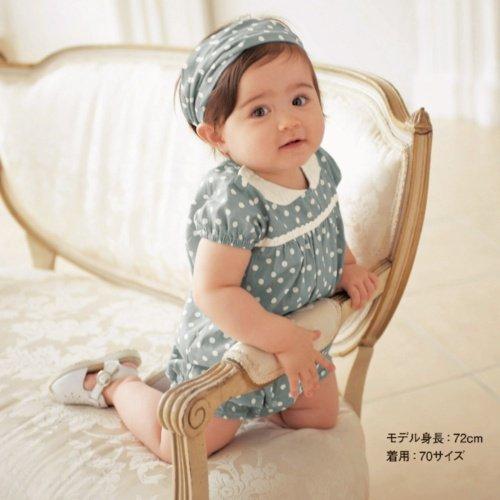 Baby romper/ Girl's blue romper with white dot/ Children sportswear headpiece + teddy(China (Mainland))