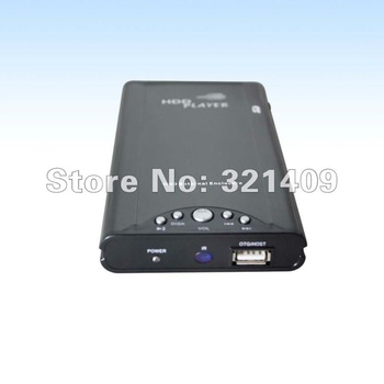 "1080i AVI Divx XviD 2.5"" Sata HD Media Player Support 2.5"" internal Sata Hdd With USB/OTG Port"