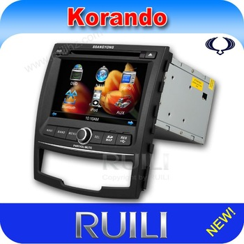 Promotion! 7 inch Ssangyong Korando/New Actyon car radio with Russain language and Russian Map (RUILI RL-917)