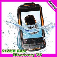Discovery V5 V5Plus v5+ v6 v8 New Version Android 4.2.2 dual core 512MB RAM + 4GB ROM 3G waterproof phone NLP Free Shipping
