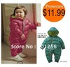 Promotion!!Free shipping 2012 Retail fashion Baby Romper for winter cotton padded one piece children kids jumpsuit 6m-2yrs