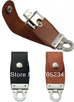 Wholesale custom Christmas leather usb flash drive disk memory stick pendrive drive logo printing 8GB 16GB  free shipping