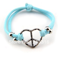 Fashion New Style Very Cheap fashion peace bracelet  charming color bracelet