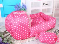 Free shipping, Luxury pink cute dog/cat/rabbit mat bed nest  with little bow , 45*40cm