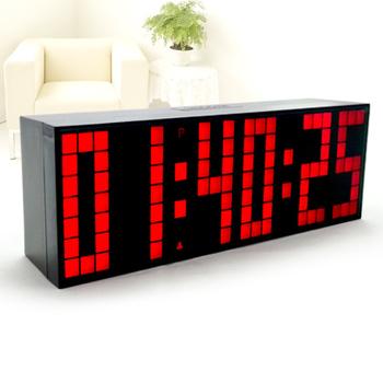 LED Big Number Bedroom Backlight Alarm Clock Decoration Temperature Calendar Wall Clock Free Shipping