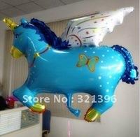 Ali express unicorn foil Balloon, Helium Balloons, gift & toy wholesale & retail 50pcs a lot big size100*80cm
