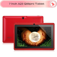 Five Colors!NEW 7 inch allwinner a23 Q88pro tablet pc android 4.2 Capacitive Screen Dual Camera WIFI 512MB 4GB Q88pro tablet pc