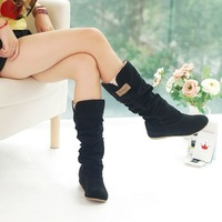 free shipping,2012 Newest winter woolen lady snow boots,sexy bleak orange brown women boots WLY662