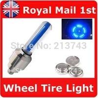 4 X Motor Bike Car Tyre Tire Valve Wheel LED Light Blue