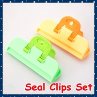 [FORREST SHOP] Free Shipping Kitchen tool Food bag sealing clips 9.5*5cm 24 pieces/lot high quality FRH-14