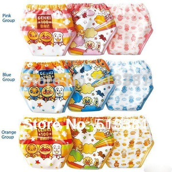 Promotion! 9pcs/lot 2013 New Training Pants 3 layers/Baby Underwear Diapers Nappies/Baby Boys Girls Short Pants #002