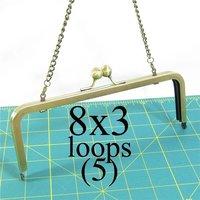 8*3 inch Antique Brass Purse Frame  --  16 pieces
