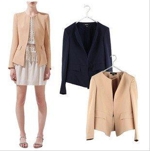 CT25 Autumn Top grade classic womens' business suits pocket vogue Casual Blazer jacket  ruffles back cozy elegant slim outwear