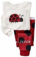 Ladybug girls pajamas, cotton homewear, child home clothes suits, Baby Pyjamas, Childen Pyjamas, Sleepwear 6sets/lot 760015