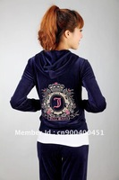 2013  Women's High Quality Velvet Tracksuit, Designer Velour Tracksuit , Yoga Jogging Suits S-XL
