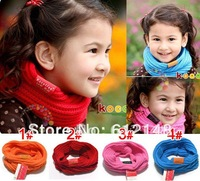 FactoryPrice Wholesale Mix Colors Children's Muffler Baby Scarf Autumn and Winter Warm Scarf Boy /Girl Knitted O-Scarf 10pcs/lot