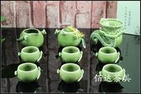 2014 NEW! Chinese 10pcs exquisite TIAN Serials china tea set, negative ions generator,  glazed tourmaline ceramic teaset