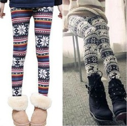 2013 Fashion Retail Autumn Winter warm Thin Colorful Crystal Pattern Snowflakes Women's Knit Leggings Tights Pants 80034(China (Mainland))