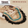 [Mix 15USD] Gold Nice Vintage Fashion Lots layered  Beads Tassel Bib Choker Necklace