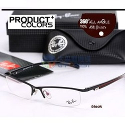 metal half rim optical frame acetate temple Men glasses frame Brand new prescription eyewear New Arrival(China (Mainland))